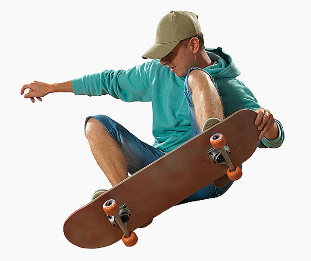 Planche a roulettes ou skateboard